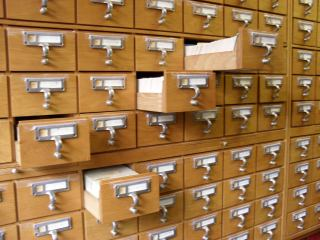 SOAS Card Catalogue Drawers